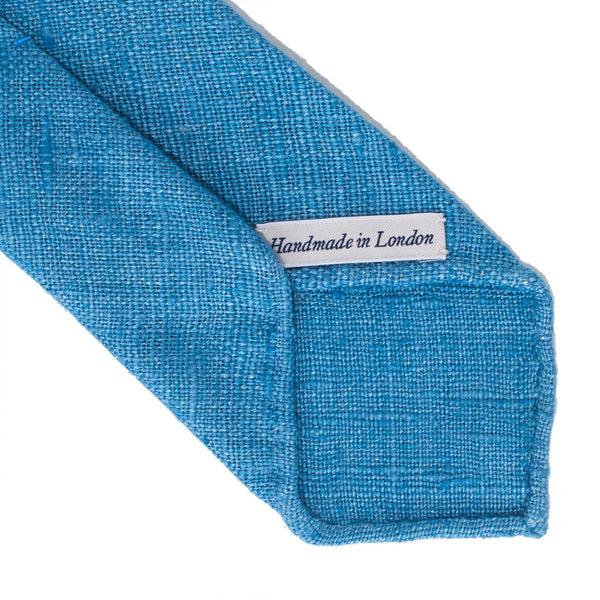 Drake's - SILK WOVEN SHANTUNG SOLID TIE - LIGHT BLUE - MAN of the WORLD Online Destination for Men's Lifestyle - 3