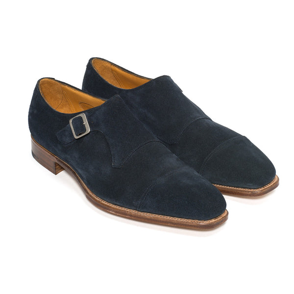 Ashton Monk - Navy Suede