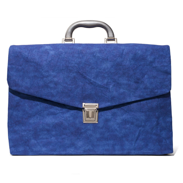 Cellulose Fiber Briefcase - Blue