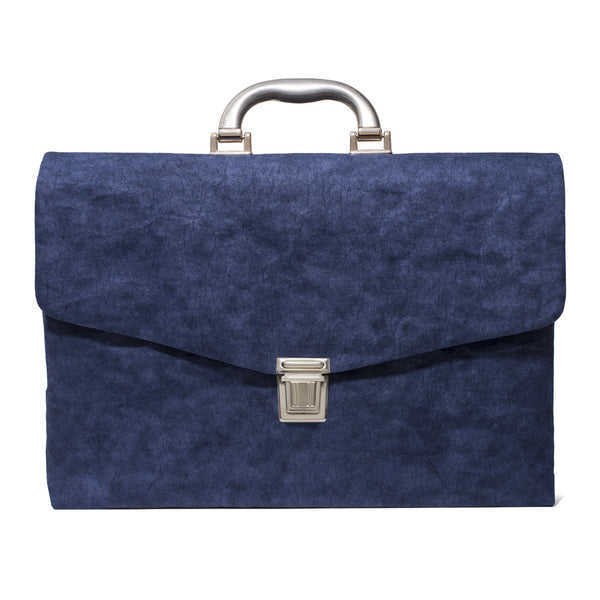 Cellulose Fiber Briefcase - Navy