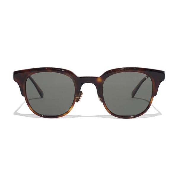 Acetate Clubmaster Sunglasses - Tobacco