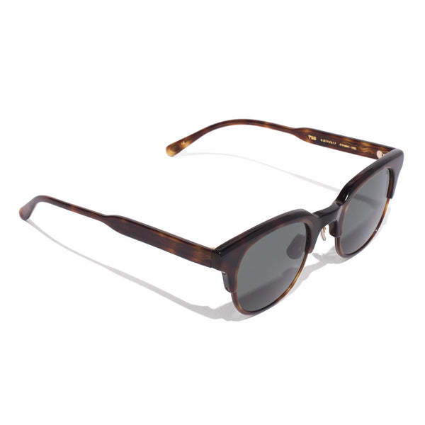 Eyevan 7285 - Acetate Clubmaster Sunglasses - Tobacco - MAN of the WORLD Online Destination for Men's Lifestyle - 2