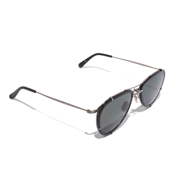 Eyevan 7285 - Metal & Acetate Aviator Sunglasses - Black - MAN of the WORLD Online Destination for Men's Lifestyle - 2