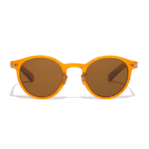 Eyevan 7285 - Round Frame Acetate Sunglasses - Amber - MAN of the WORLD Online Destination for Men's Lifestyle - 1