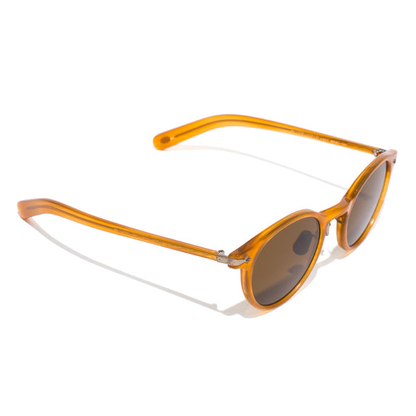Eyevan 7285 - Round Frame Acetate Sunglasses - Amber - MAN of the WORLD Online Destination for Men's Lifestyle - 2
