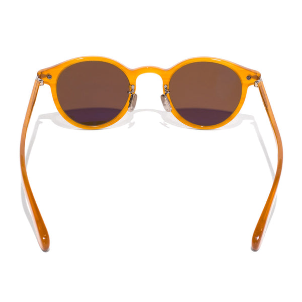 Eyevan 7285 - Round Frame Acetate Sunglasses - Amber - MAN of the WORLD Online Destination for Men's Lifestyle - 4
