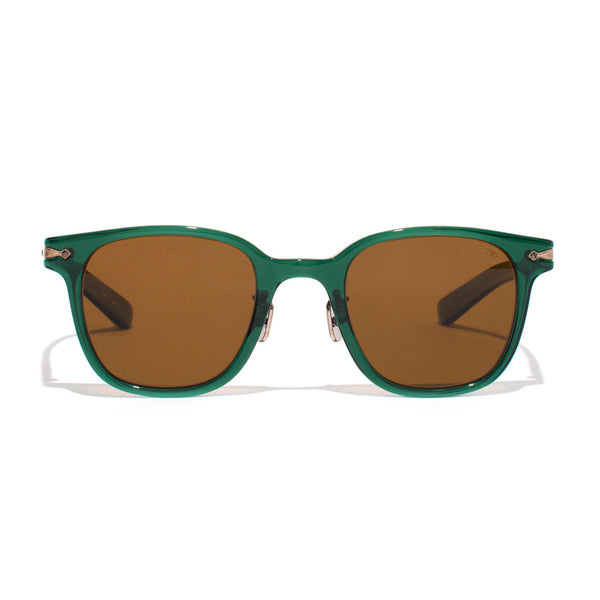 Square Frame Acetate Sunglasses - Green