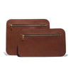 Chestnut Leather Travel Pouch