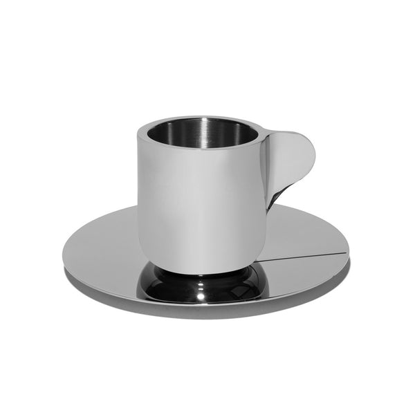 Georg Jensen - Stainless Steel Espresso Cups with Saucers - MAN of the WORLD Online Destination for Men's Lifestyle - 3
