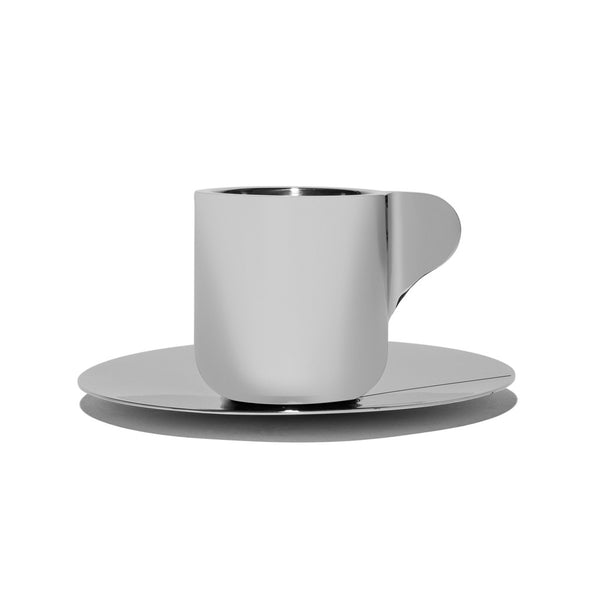 Georg Jensen - Stainless Steel Espresso Cups with Saucers - MAN of the WORLD Online Destination for Men's Lifestyle - 4