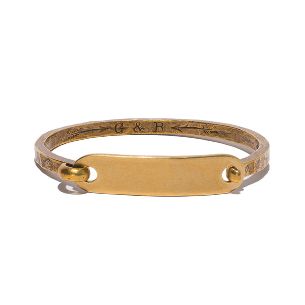 Giles & Brother - Brass ID Cuff - MAN of the WORLD Online Destination for Men's Lifestyle - 1