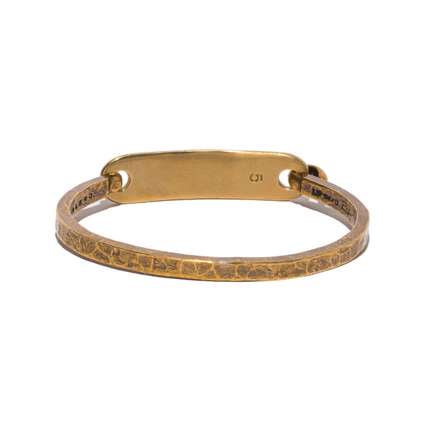 Giles & Brother - Brass ID Cuff - MAN of the WORLD Online Destination for Men's Lifestyle - 2