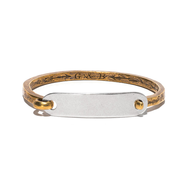 Giles & Brother - Brass & Silver ID Cuff - MAN of the WORLD Online Destination for Men's Lifestyle - 1