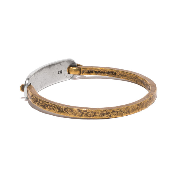 Giles & Brother - Brass & Silver ID Cuff - MAN of the WORLD Online Destination for Men's Lifestyle - 3
