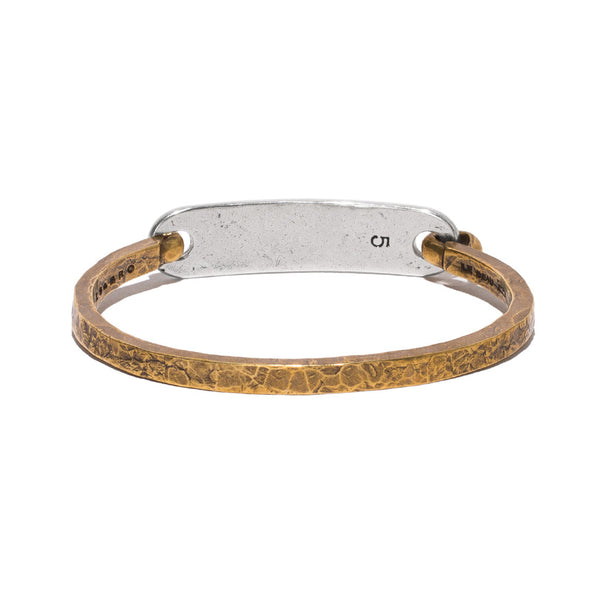 Giles & Brother - Brass & Silver ID Cuff - MAN of the WORLD Online Destination for Men's Lifestyle - 2