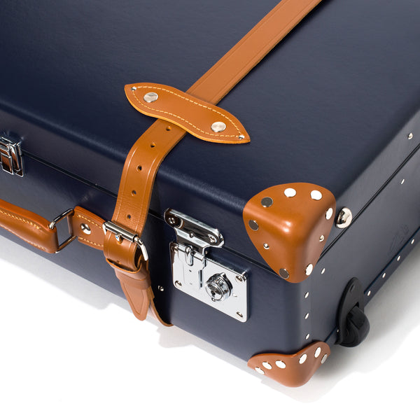 "Globe-Trotter - 26"" Trolly Case - Navy & Chrome - MAN of the WORLD Online Destination for Men's Lifestyle - 12"
