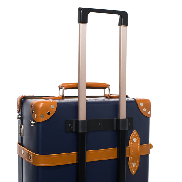 "Globe-Trotter - 26"" Trolly Case - Navy & Chrome - MAN of the WORLD Online Destination for Men's Lifestyle - 9"