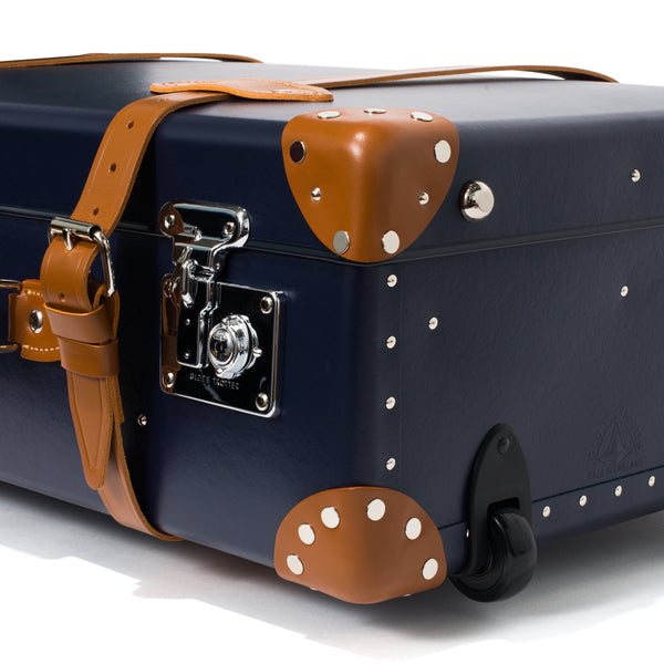 "Globe-Trotter - 30"" Trolly Case - Navy & Chrome - MAN of the WORLD Online Destination for Men's Lifestyle - 10"