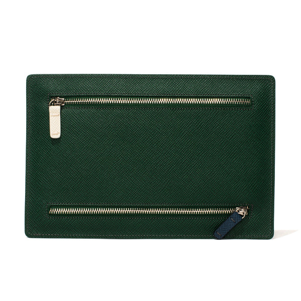 Globe-Trotter - Double Zip Currency Wallet - Green - MAN of the WORLD Online Destination for Men's Lifestyle - 2