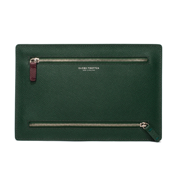 Double Zip Currency Wallet - Green