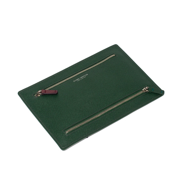 Globe-Trotter - Double Zip Currency Wallet - Green - MAN of the WORLD Online Destination for Men's Lifestyle - 3