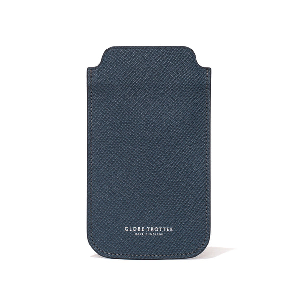 Globe-Trotter - Leather iPhone Sleeve - Navy - MAN of the WORLD Online Destination for Men's Lifestyle - 1