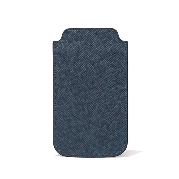 Globe-Trotter - Leather iPhone Sleeve - Navy - MAN of the WORLD Online Destination for Men's Lifestyle - 6