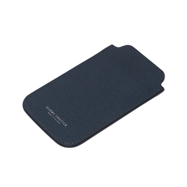 Globe-Trotter - Leather iPhone Sleeve - Navy - MAN of the WORLD Online Destination for Men's Lifestyle - 4