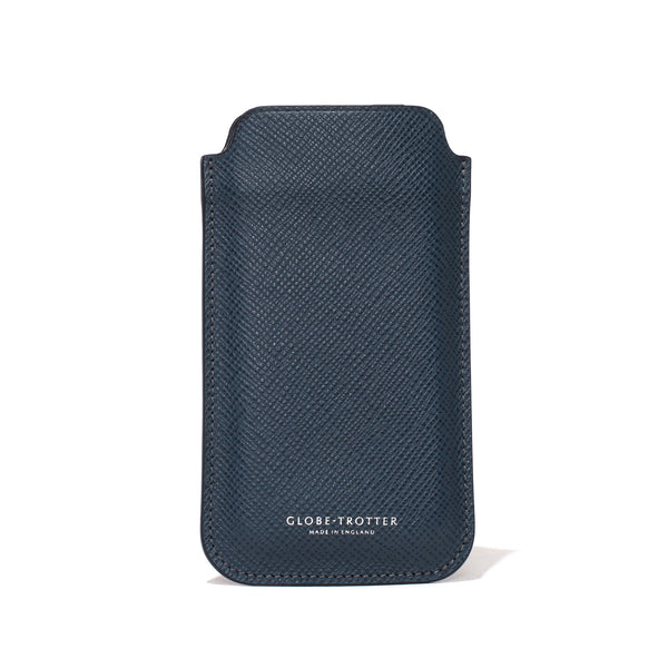 Globe-Trotter - Leather iPhone Sleeve - Navy - MAN of the WORLD Online Destination for Men's Lifestyle - 3