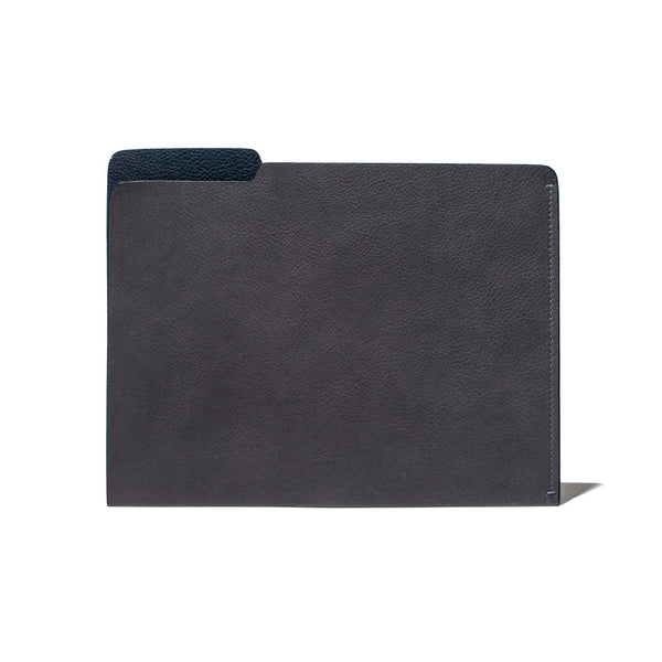 MAN OF THE WORLD - Leather Folder - Grey & Navy - MAN of the WORLD Online Destination for Men's Lifestyle - 1