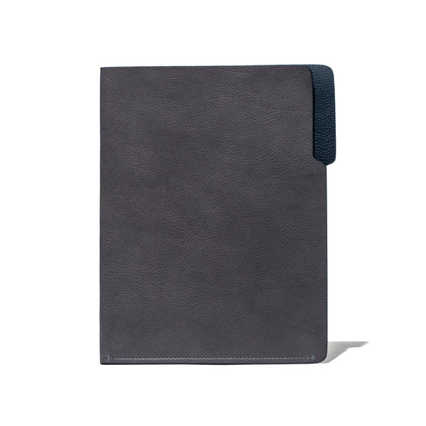 MAN OF THE WORLD - Leather Folder - Grey & Navy - MAN of the WORLD Online Destination for Men's Lifestyle - 2
