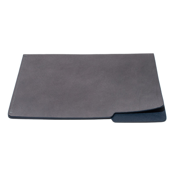 MAN OF THE WORLD - Leather Folder - Grey & Navy - MAN of the WORLD Online Destination for Men's Lifestyle - 4