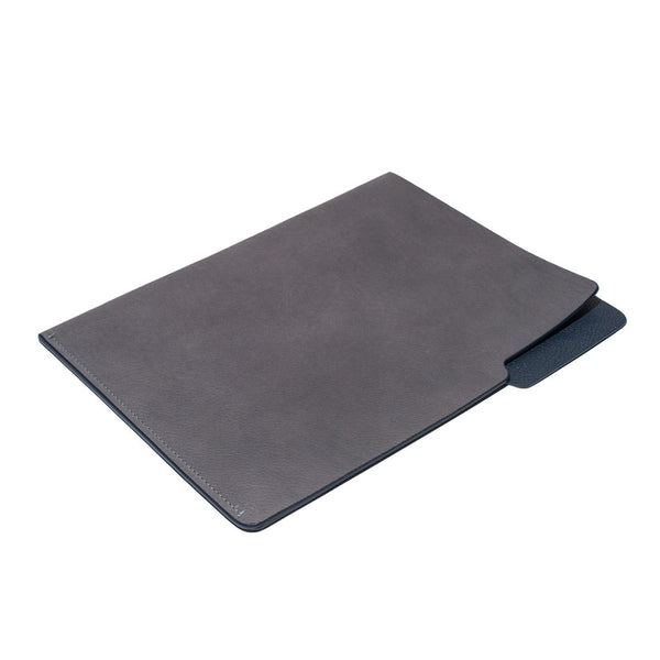 MAN OF THE WORLD - Leather Folder - Grey & Navy - MAN of the WORLD Online Destination for Men's Lifestyle - 3