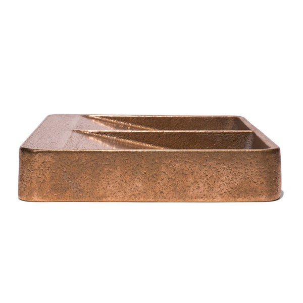 HENRY WILSON - Gunmetal Bronze Double Sided Catchall - MAN of the WORLD Online Destination for Men's Lifestyle - 5