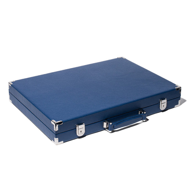Hector Saxe - Competition Backgammon Board Bleu Leather - MAN of the WORLD Online Destination for Men's Lifestyle - 5