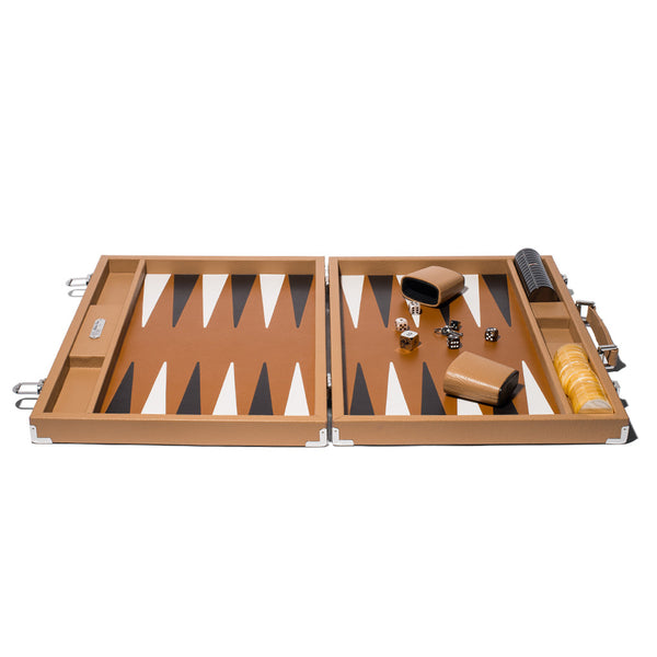 Hector Saxe - Competition Backgammon Board Cognac Leather - MAN of the WORLD Online Destination for Men's Lifestyle - 2