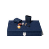 Hector Saxe - Medium Backgammon Board Denim & Leather - MAN of the WORLD Online Destination for Men's Lifestyle - 3