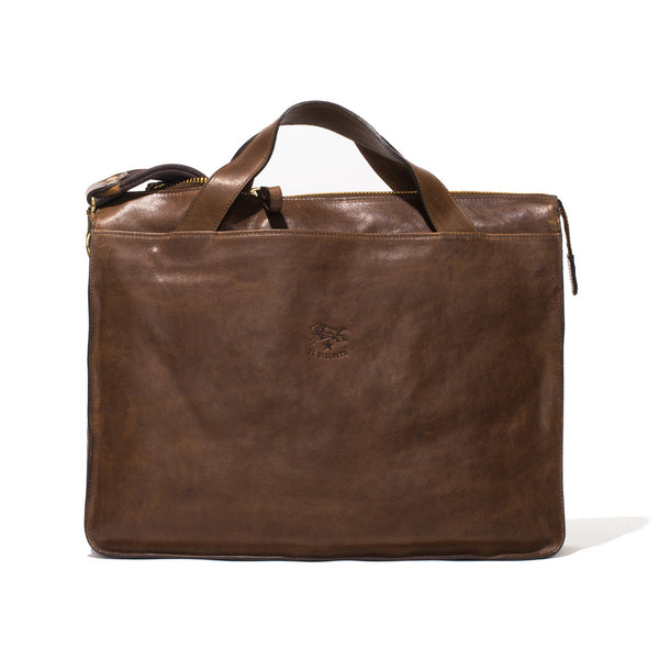 IL BISONTE - Cowhide Briefcase - Brown - MAN of the WORLD Online Destination for Men's Lifestyle - 11