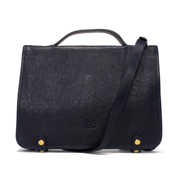 IL BISONTE - Cowhide Briefcase - Navy - MAN of the WORLD Online Destination for Men's Lifestyle - 1