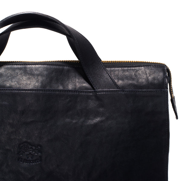 IL BISONTE - Cowhide Briefcase - Navy - MAN of the WORLD Online Destination for Men's Lifestyle - 6