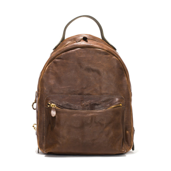 IL BISONTE - Cowhide Backpack - Brown - MAN of the WORLD Online Destination for Men's Lifestyle - 1