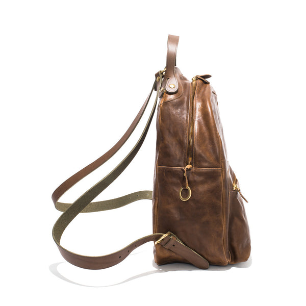 IL BISONTE - Cowhide Backpack - Brown - MAN of the WORLD Online Destination for Men's Lifestyle - 2