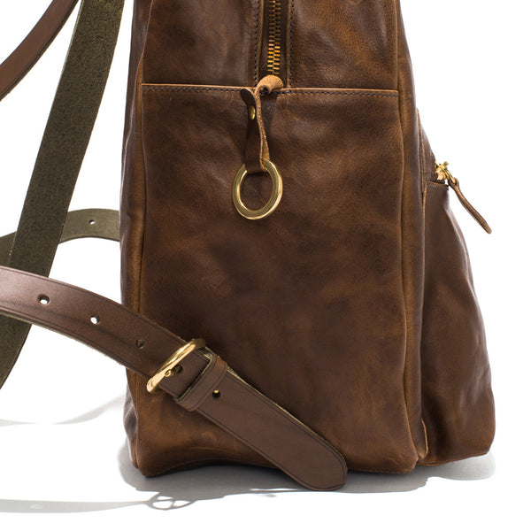 IL BISONTE - Cowhide Backpack - Brown - MAN of the WORLD Online Destination for Men's Lifestyle - 4