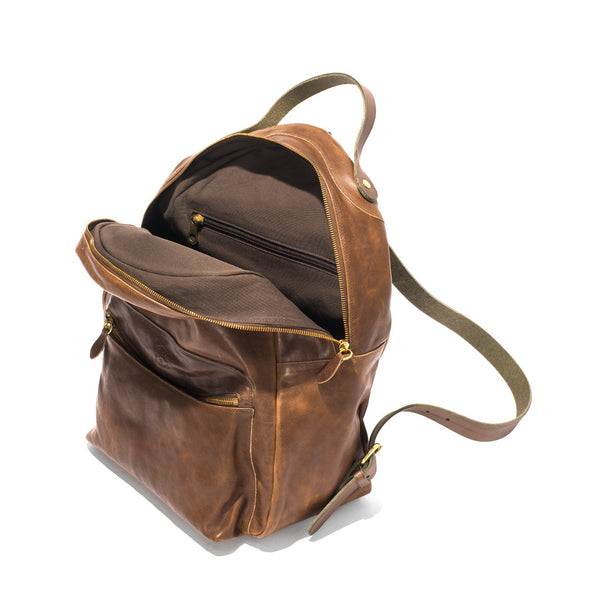 IL BISONTE - Cowhide Backpack - Brown - MAN of the WORLD Online Destination for Men's Lifestyle - 6