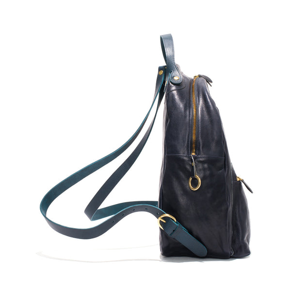 IL BISONTE - Cowhide Backpack - Navy - MAN of the WORLD Online Destination for Men's Lifestyle - 4