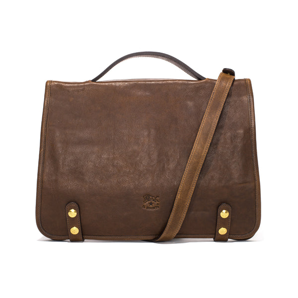 IL BISONTE - Cowhide Briefcase - Brown - MAN of the WORLD Online Destination for Men's Lifestyle - 1