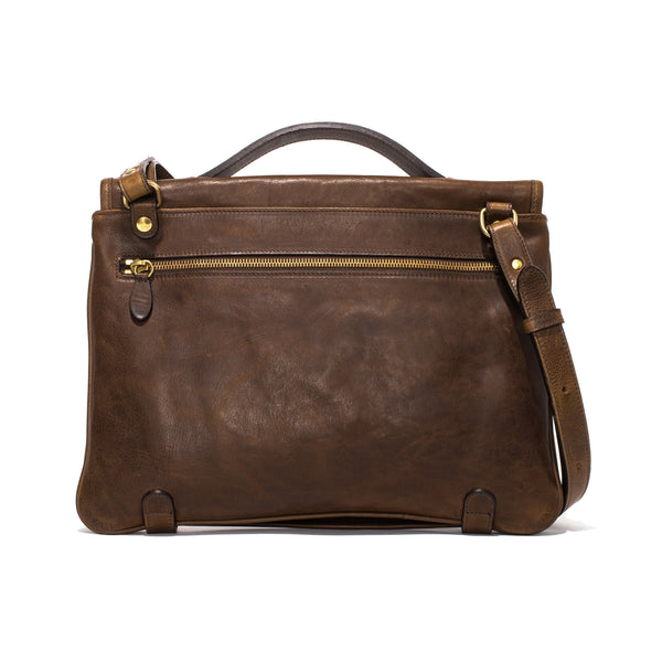 IL BISONTE - Cowhide Briefcase - Brown - MAN of the WORLD Online Destination for Men's Lifestyle - 2