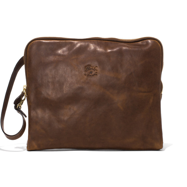 IL BISONTE - Cowhide iPad Case - Brown - MAN of the WORLD Online Destination for Men's Lifestyle - 1