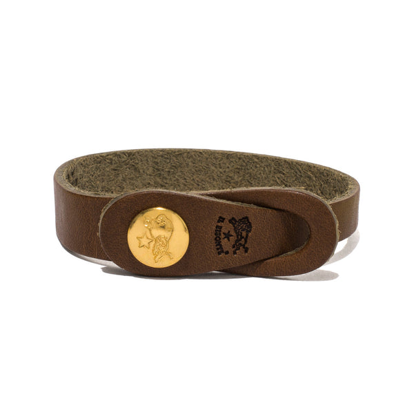 IL BISONTE - Cowhide Strap Bracelet - Brown - MAN of the WORLD Online Destination for Men's Lifestyle - 1