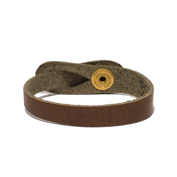 IL BISONTE - Cowhide Strap Bracelet - Brown - MAN of the WORLD Online Destination for Men's Lifestyle - 2